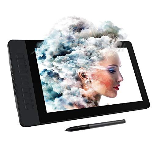 GAOMON PD1561 15.6 Inches Pen Display with Tilt-Support Battery-Free 8192 Level Pen 10 Shortcut Keys HD Screen Drawing Tablet with Monitor Stand
