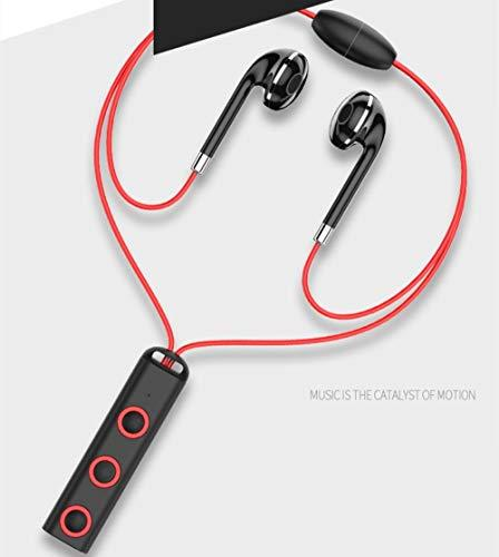 Magnetic Bluetooth Headset Sports Sweatrproof Earphones, Noise Cancelling Comfortable Stereo Wireless Bluetooth Headset (Red)
