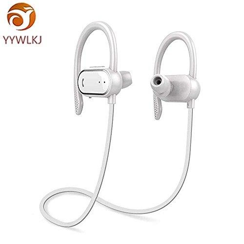 YYWLKJ Bluetooth Headphones Wireless Earphones, Bluetooth Earbuds Sports Headphones Wireless Earbuds Hands-Free Calling Headset for iPhone 8/iPhone X iOS Samsung Galaxy S9 Android?White?