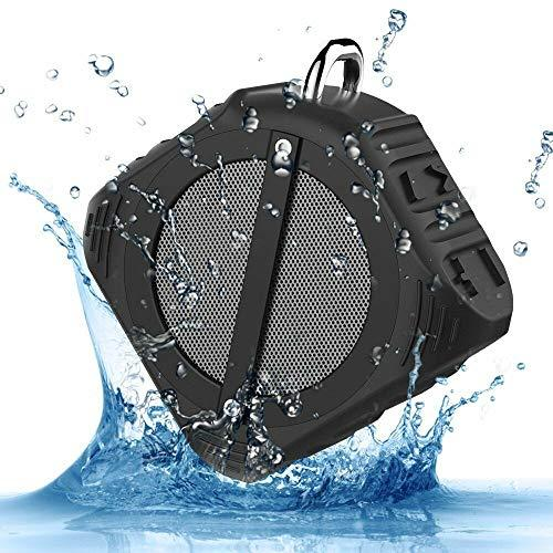 Bluetooth Speaker, Portable Bluetooth 4.0 Wireless Speaker, IPX6 Waterproof, TF Card Supported, Built-in Microphone, 10H Playtime with Superior Sound for Bedroom,Kitchen,Garden,Outdoor,Travel, Party