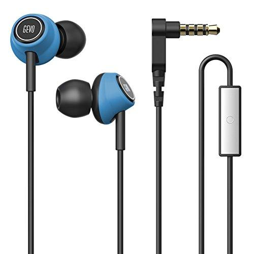 OKCSC GV6 Sports Wire Earphone – Stereo Ergo-Fit in-Ear Headphones,Noise Cancelling Sweat Proof Earphone with HD Microphone,Supports Hands Free Calling,One Button Controls for iOS/Android(Blue)