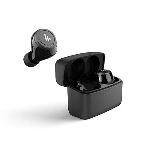 Edifier TWS5 True Wireless Earbuds – Up to 32 Hour Battery Life with Mic and Charging Case, Bluetooth v5.0 aptX, IPX5 Splash & Sweatproof, Easy Pairing – Black