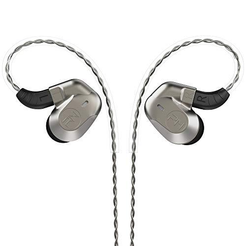 RevoNext 602 in Ear Monitor,Noise-Isolating in Ear Headphones 6DD+2BA Banlance Armature HiFi with Detachable Cable for Audio Player, Smartphone, Computer (no mic, Gray)
