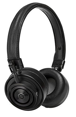 Master & Dynamic MH30 Wired On-Ear Headphones with Premium Leather Headband, Foldable Design and Memory Foam Ear Pads, Black