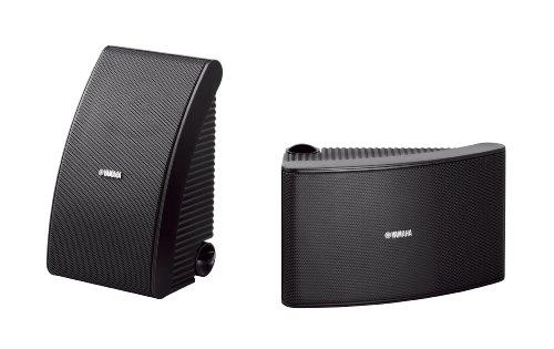 Yamaha Outdoor Speakers with 16cm Woofer Weatherproof & 2-Way Acoustic Suspension Design – NSAW592 (Black)