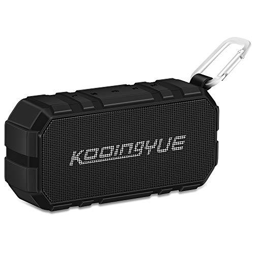 KOOINGYUE Enhanced Bass Stereo Version IPX56 Splash Proof Portable Bluetooth Speaker with Volume Amplifier 10 W Power, 33′ Wireless Range Bluetooth 4.0, Custom Bass Radiator