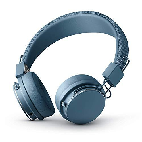 URBANEARS Plattan II Bluetooth Headphones, Wireless On-Ear Headphones, with 30+ Hours of Cord Free Playtime, Intuitive Control Knob and Convenient, Collapsible Design, Indigo