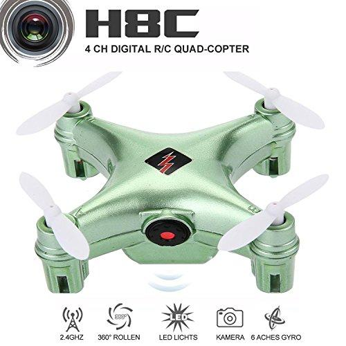 rainbow yuango WLtoys Remote Controlled Rechargeable Mini Set High WiFi Quadcopter with WiFi HD Camera(Green)