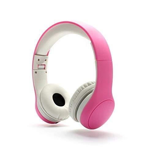 Kids Headphones – Over-Ear Kids & Students Headphone for Girls Foldable Volume Limiting Earphone with Audio Sharing Port (Pink)