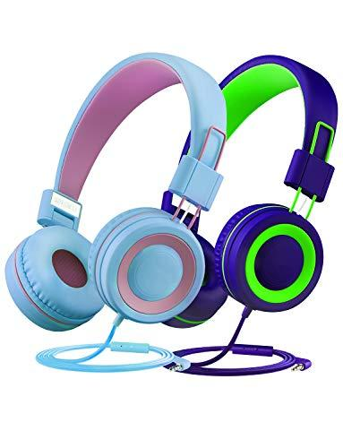 MPOW 4885179051 Mpow Kids Headphones 85dB Limited Hearing Protection, Music Sharing Function, Wired On-Ear Headsets, Gifts to Children, Butterfly-Inspired Design, School/Girls