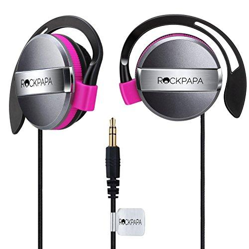 Rockpapa On Ear Kids Childs Boys Girls Adults Earphones Headphones 3.5mm for MP3/4 DVD PC iPhone iPad iPod Tablet Black/Pink