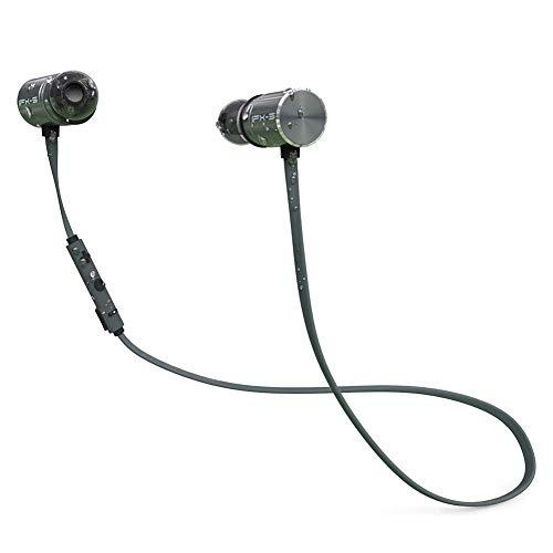 OKCSC BX343 Bluetooth Wireless Earphone-In Ear Sports Bluetooth Earbuds With Noise Cancellation Microphone-Bluetooth V4.1 IPX5 Waterproof Magnetic Headphones,Built-in Dual Battery Long Standby time,Secure Fit For Sports,Gym(Black)