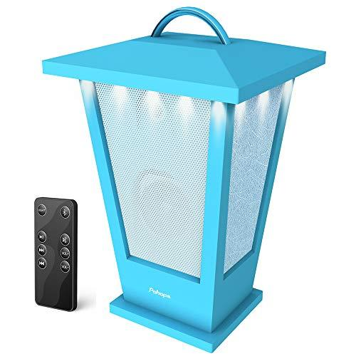 Outdoor Bluetooth Speaker – Pohopa B210 (2018 New Lantern Design) Portable Wireless Waterproof Speaker with LED light,Support Remote Control,For Yard,Party,Kitchen,beach,24-Hour Customer Support,2-Year Warranty