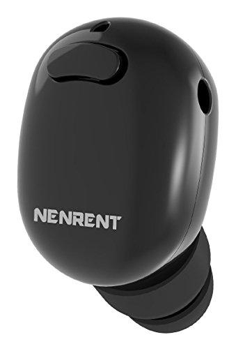 NENRENT S570 Bluetooth Earbud, Smallest Mini Invisible V4.1 Wireless Bluetooth Headset Headphone Earpiece Earphone with Mic Hands-Free Calls for iPhone iPad Samsung Galaxy LG HTC 1 PCS (S570-Black)
