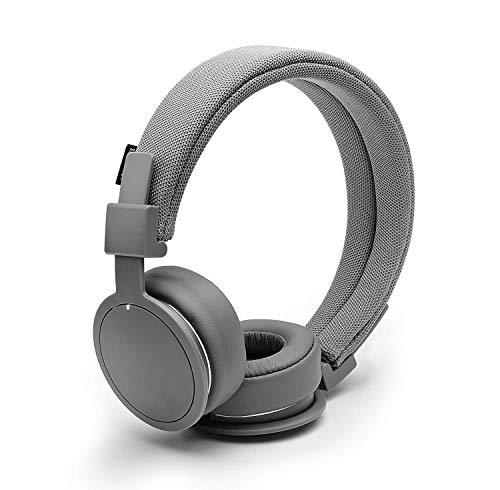 URBANEARS Plattan ADV Wireless Bluetooth On-Ear Headphones, with 14+ Hours of Playtime, Machine Washable Headband, Collapsible Design and Built-in Microphone and Remote, Dark Grey