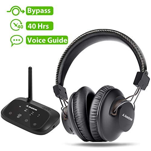 Avantree HT5009 Wireless Headphones for TV Watching w/ Bluetooth Transmitter 164ft Range – Digital OPTICAL RCA AUX, Headset Hearing & Home Stereo Sound Simultaneously, 40Hrs Battery, No Audio Delay