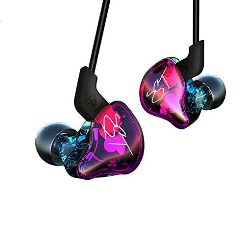 OKCSC ZST Wired in Ear Earphones Dynamic Hybrid + Balanced Armature Dual Driver HiFi Headphone Deep Bass Music Headset Earbuds with Detachable Cable for iPhone Android