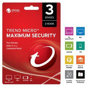 Trend Micro Maximum Security 3 Device 24 Month Download
