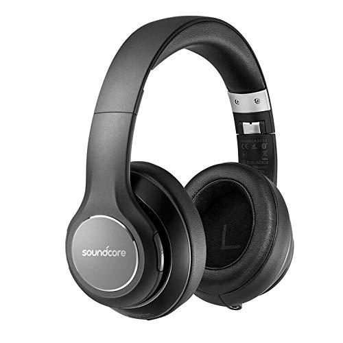 Over Ear Headphones, Soundcore Vortex Wireless Headset by Anker, 20H Playtime, Deep Bass, Hi-Fi Stereo Earphones for PC/Phones/TV, Soft Memory-Foam Ear Cups, w/Mic and Wired Mode