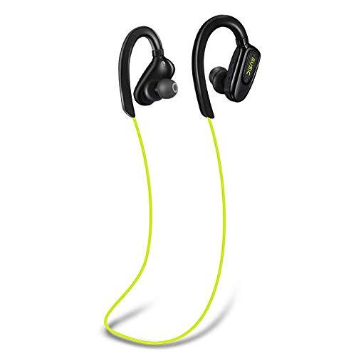 Bluetooth Headphones Wireless Sports Earphones with Mic Waterproof in Ear Earbuds Noise Isolating Stereo Headset for Running Workout Gym (Kelly)