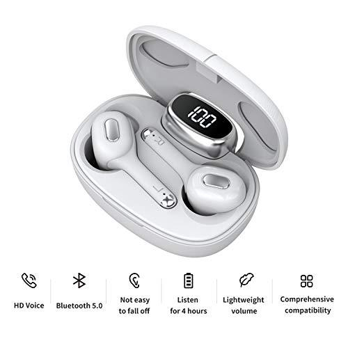 Wireless Earbuds Bluetooh 5.0 Headphones in-Ear TWS Bluetooth Earphones Auto-Pair Noise Reducing Wireless Headphones with High Definition Mic 16H Playtime with LED Battery Display Charging Case