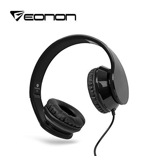 Eonon Active Noise Cancelling Headphones Wired, Over Ear with Mic, Sound Cancelling Headphones Foldable Lightweight for C1100A Car DVD Player -A0136B?Black?