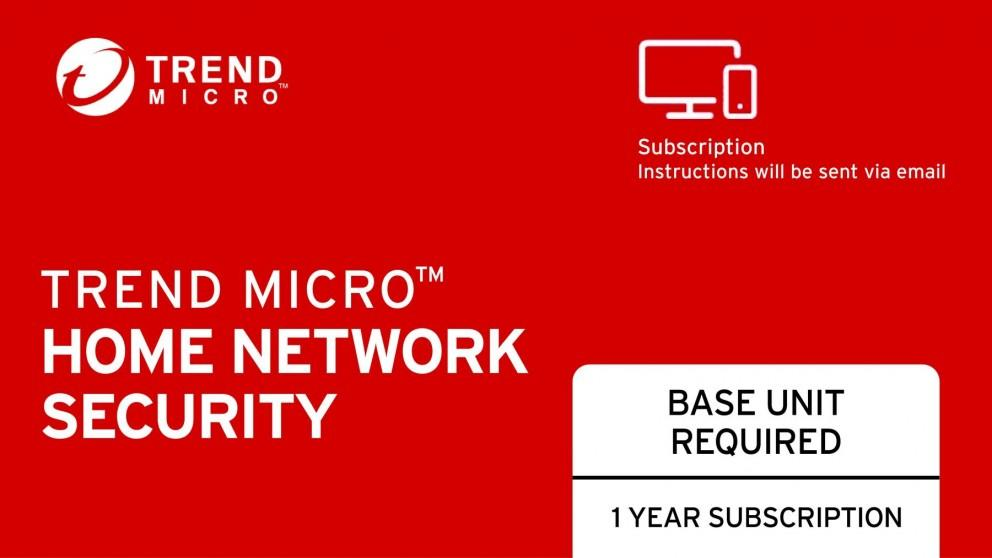 Trend Micro Home Network Security Renewal Electronic Voucher – 1 Year Subscription