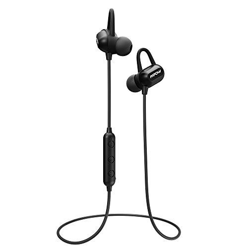 Mpow S9 Bluetooth Headphones, aptX Stereo Wireless Earbuds Magnetic, IPX6 Sweatproof Earphones, Bluetooth Headphone 9 Hours Play Time with HD Mic for Running and Sport
