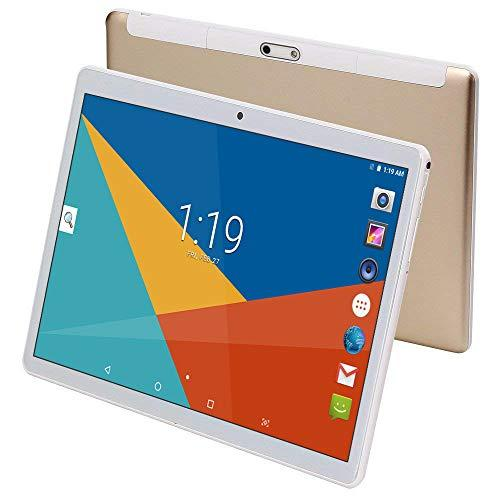 Tablet 10 Inch (10.1″),4GB RAM,64GB ROM,Android 8.1,GPS,WiFi,USB,1280X800 IPS Screen,Octa Core CPU,2+8 MP Camera Computer PC (Gold)