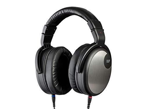 Monoprice Monoprice HR-5C Wired Headphones – Black/Silver with 42mm Drivers, High Resolution Closed Back, 1.3mm Cable, (134191)