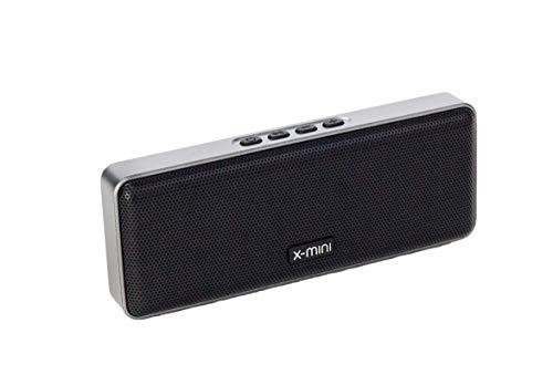 X-mini Xoundbar – Portable Bluetooth Stereo Speaker, Loud Volume, Wireless, Built-in Microphone, Lightweight, Mini, for Home/Outdoors/Travel, for iPhone, Android and More (Black)
