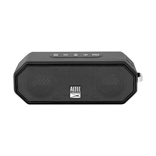 Altec Lansing IMW449-BLKC Jacket H20 4 Rugged Bluetooth Speaker Waterproof & it Floats Pool Party Beach Camping Outdoor Snow Make Mobile Call, Black