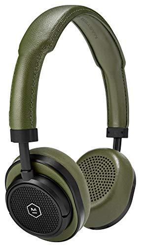 Master & Dynamic MW50 Wireless Bluetooth Headphones, with Premium Leather, Superior Sound Quality and Highest Level of Design, Black/Olive