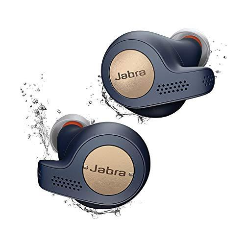 Jabra Elite Active 65t True Wireless Sports Earbuds Bluetooth in-Ear Headphones with Earphones Charging Case & One-Touch Amazon Alexa & 15 Hours Battery, Copper Blue