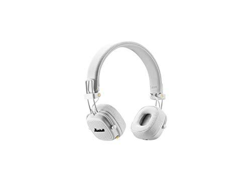 Marshall Major II Bluetooth Headphones, Collapsible Wireless On-Ear Headphones, with 30+ Hours of Portable Playtime and Built-In Microphone and Control Knob, White