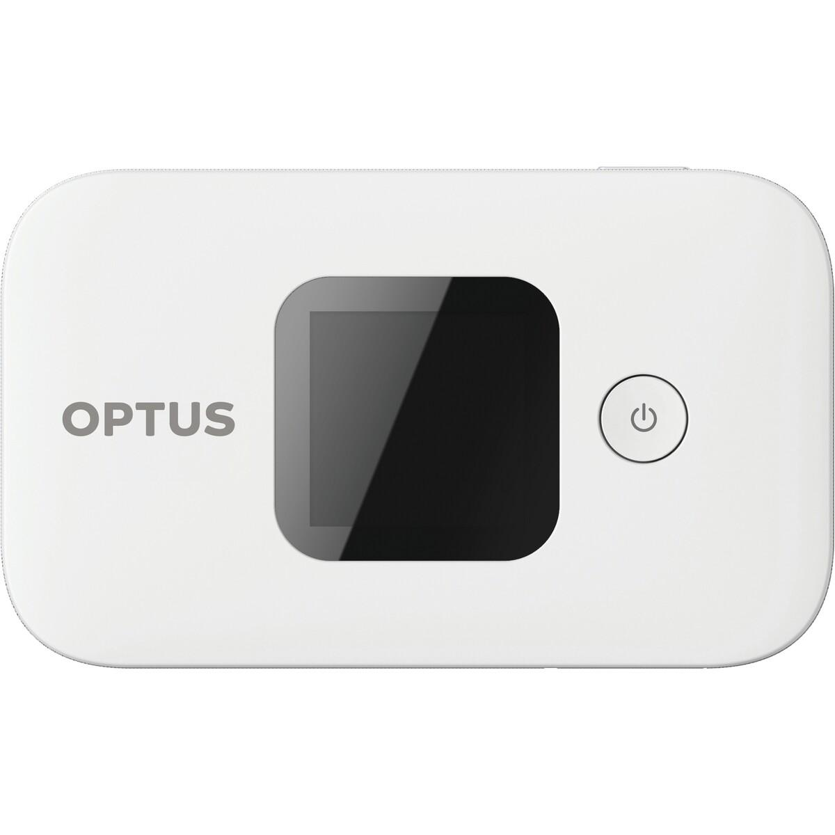 Optus 4G WiFi Modem + 50GB Data – White