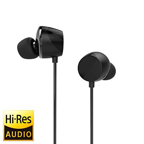 TUNAI Drum Hi-Resolution Audiophile in-Ear Earbud Headphones – Powerful Bass and Lively Sound Stage with Improved Noise Isolation Comfortable for Workout Running and Great for Gaming (Black)