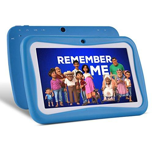 7 inches Kids Tablets PC, Android 5.1 External 8GB ROM 1GB RAM Tablet with Dual Camera WiFi USB Phablet (Blue)