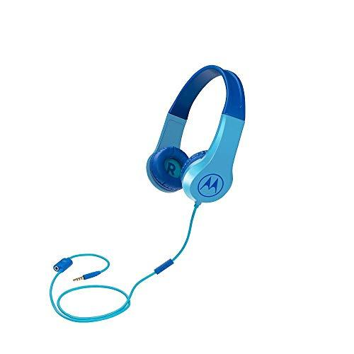 Motorola Kids Headphones Motorola On-Ear Kids Headphones, Blue, (SQUADS200BLUE)