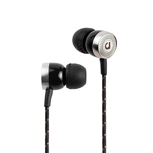 Audio Fly AF45C Wired In-Ear Headphones, With Microphone and Volume Control, Wax Black