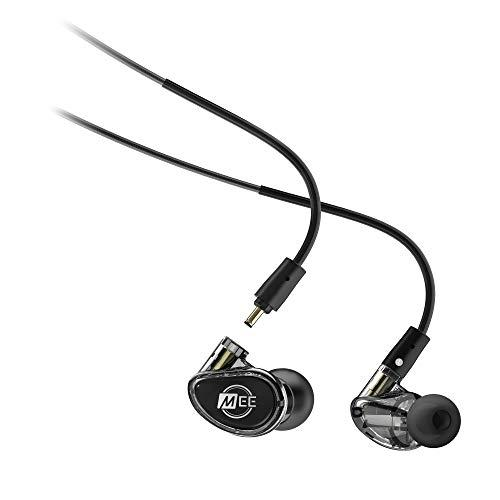 MEE Professional MX1 PRO Customizable Noise-Isolating Universal-Fit Modular Musicians in-Ear Monitors (Smoke)