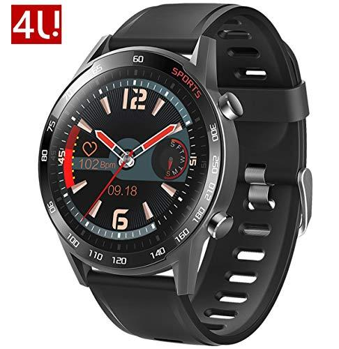 4U.T23 Smart Watch 1.3″ Full-Touch Retina Display Body Temperature Sports Tracking Health Tracking HR+BP+SPO2 Sleep Monitor Message Call Remind Sedentary Calorie IP67Waterproof Creative Gift