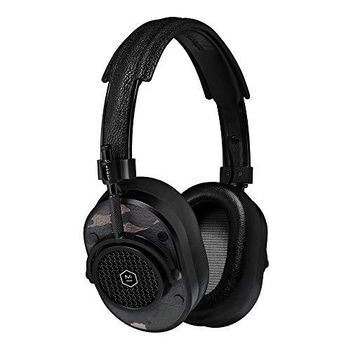 Master & Dynamic MH40 Greene St Edition Over-Ear Headphones, Wired Headphones with Genuine Lambskin Ear Pads, Black/Camo