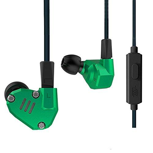 OKCSC ZS6 Sport HiFi Headset Wired in Ear Earphones 2DD+2BA Drivers Dynamic Balanced Armature Headphone DJ Monitor Super Bass Ear Buds for iPhone x, iPhone 8, Samsung, LG (Green mic)