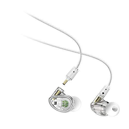 MEE audio – MX4 Pro Hybrid Quad-Driver, Customisible, Noise-Isolating, Universal-Fit Modular Musician's in-Ear Monitors Detachable Cables – Clear