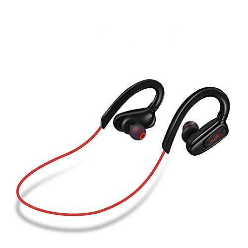 Bluetooth Headphones Wireless Sports Earphones with Mic Waterproof in Ear Earbuds Noise Isolating Stereo Headset for Running Workout Gym (Red)