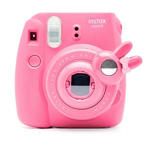Cute Bunny Selfie and Close Up Lens Shot Mirror for Fujifilm Instax Mini9 Mini 8 Mini11s Hellokitty Instant Camera (Flamingo Pink)