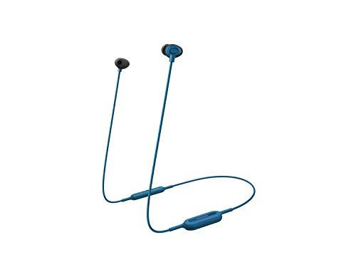 Panasonic Bluetooth in-Ear Headphones (Earphones, Quick Charge, Voice Control, Up to 6 Hours Battery Life), Blue, (RPNJ310BEA)