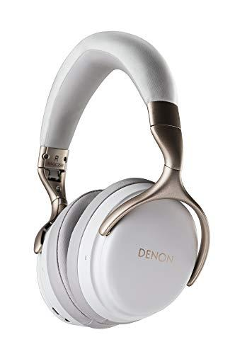 Denon AH-GC25W Premium Wireless Headphones with aptX Bluetooth | Hi-Res Audio Quality | Up to 30 hours of Wireless Use | Designed for Comfort | Battery-saving Auto-Standby Mode | White