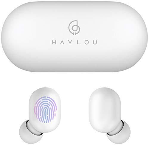 Wireless Earbuds, HaylouGT1 Bluetooth 5.0 Sports HD Stereo Touch Control Earbuds with IPX5 Waterproof/Total 12H Playtime/Fast Connection/Mini Case (White)